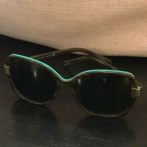 Kate Spade Tortoise and Aqua Sunglasses